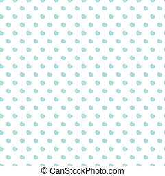 Heart seamless pattern blue color on white background for Happy Valentine's day and other holidays. Decoration element. Vector Illustration