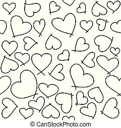 Heart seamless pattern for Valentine's day