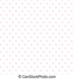 Heart seamless pattern pink color on white background for Happy Valentine's day and other holidays. Decoration element. Vector Illustration