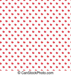 Heart seamless pattern red color on white background for Valentine's day and other holidays. Decoration element. Vector Illustration