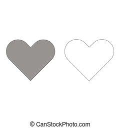 Heart set icon .