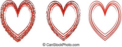 heart set vector symbol sign elements for design