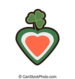 heart shamrock st patricks day