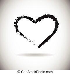 Heart Shape Black Web Icon