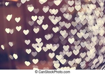 Heart shape blurred bokeh background