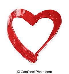 Heart shape brush stroke frame - Heart shape copyspace frame...