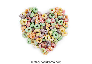heart shape cereal