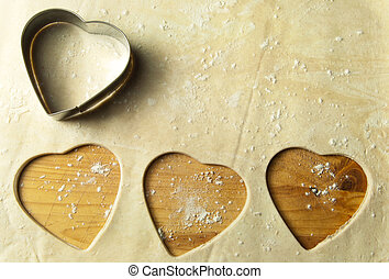 Heart shape cookie preparation
