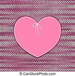 Heart Shape Design - Vintage Heart Shape Design with Knitted...