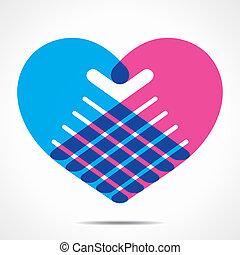 heart shape design for hand
