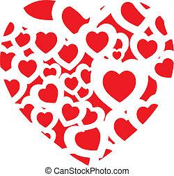 heart shape - A heart shape logo to be used as a background