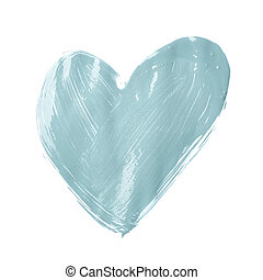 Heart shape drawn with oil paint
