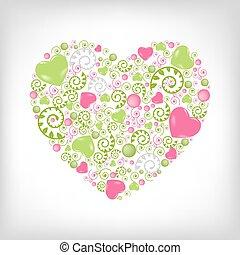 Heart Shape - Greeting Heart Shape, Isolated On Grey...