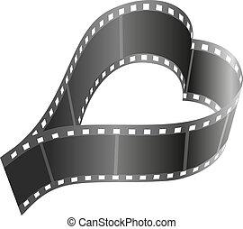 Heart shape film reel