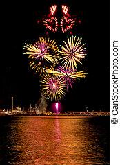 Heart shape fireworks