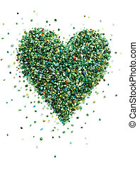 heart shape form by colorful small stones