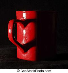 Heart shape from coffee mug handle