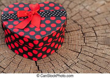 Heart Shape Gift Box on the Tree