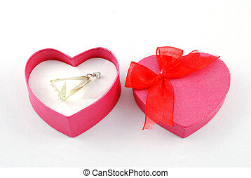 heart shape gift box with pendant