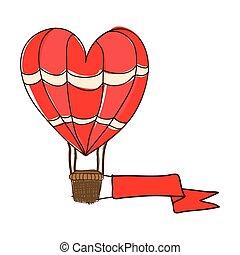 hot air balloon cartoon icon image