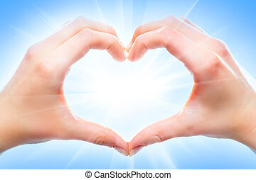 Heart shape - Human hands forming a heart shape