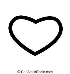 Heart shape icon isolated on white background