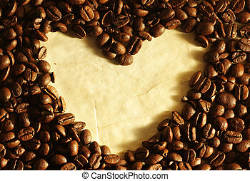 Heart shape in coffee beans