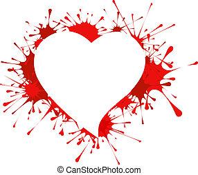 Heart shape in splashes
