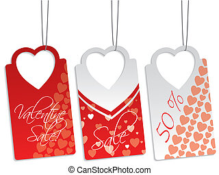 Heart shape label set