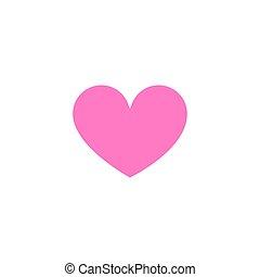 Heart shape. Like icon isolated on white