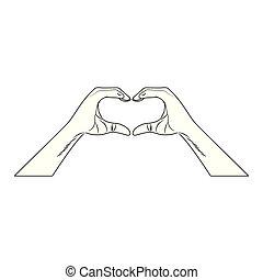 Heart shape lollipop pop art in black and white