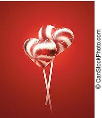 Heart shape lollipops