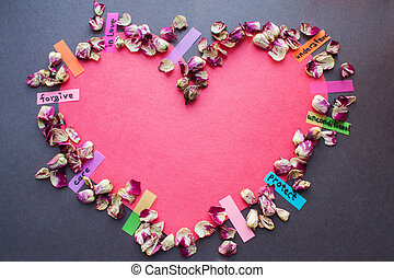 Heart shape love concept