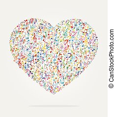 heart shape music color