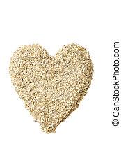 Heart Shape Oatmeal