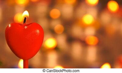 Heart Shape of Candle Light