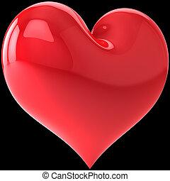 Heart shape on black background