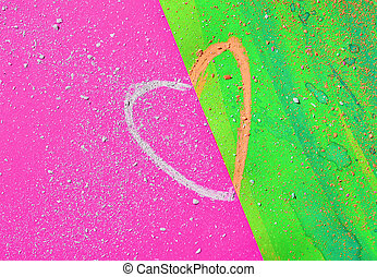 Heart shape on colored background