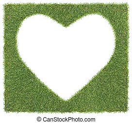heart shape on grass