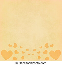 Heart shape on old paper