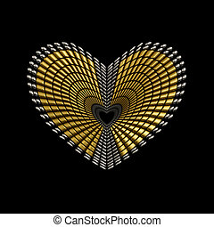 Heart Shape Ornament Jewelery Design