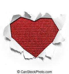 Heart shape paper
