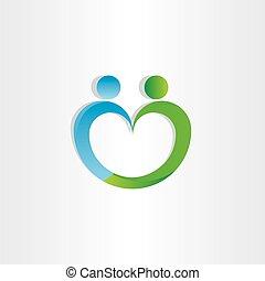 heart shape people icon