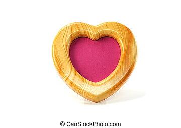 heart shape photo frame isolated on white background