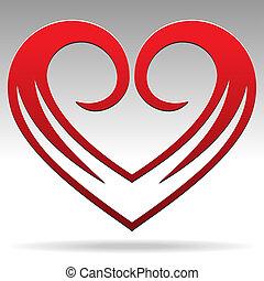 Heart Shape Sign - Vector Heart Shape Sign