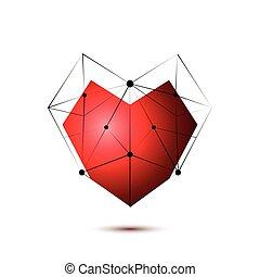 Heart shape symbol isolated on white background