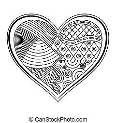 Heart shape tattoo ornament