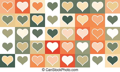 heart shape tiles loopable background