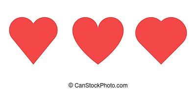 Heart shape vector design illustration isolated on white background