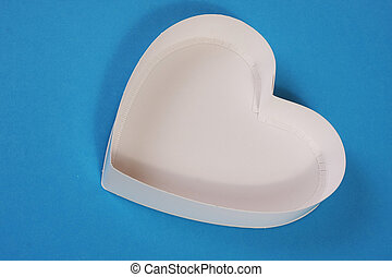 Heart shape white box